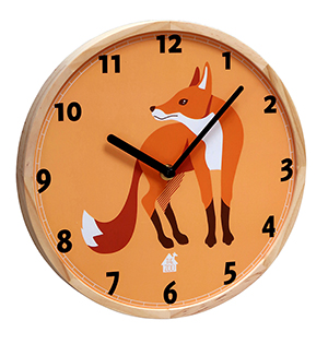 Wallclock Forest Animals (fox)