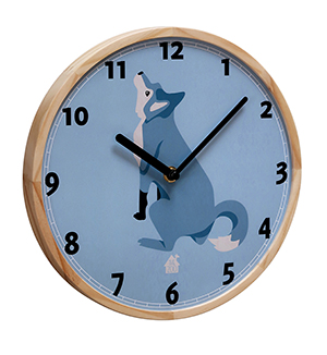 Wallclock Forest Animals (wolf)