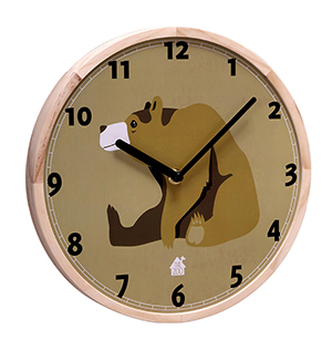 Wallclock Forest Animals (brownbear)